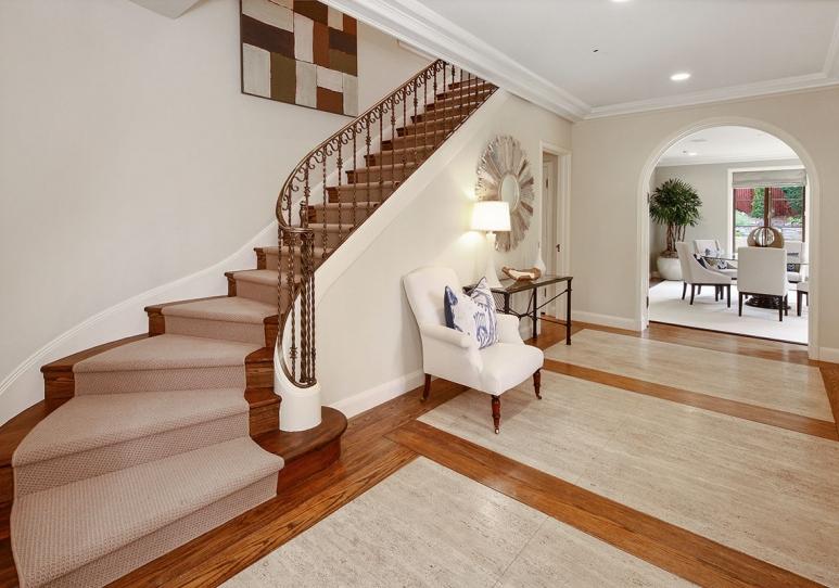 Home Office In Living Room Corner