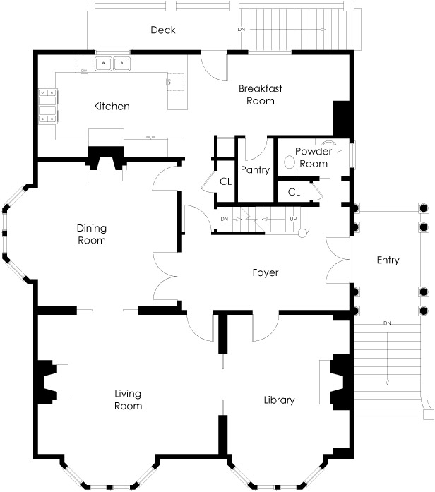 San francisco townhouse floor plans for Floor design sf